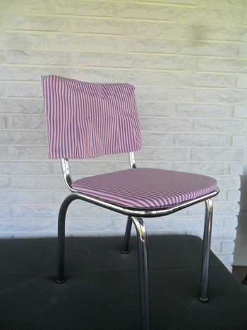 cat eye girls, cateyegirls, repurposing junk, 1950s chrome chair